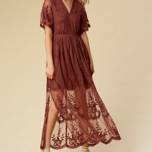 Altar'd State Marionette Lace Maxi Dress